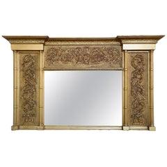 Gilded 19th Century Overmantel Mirror