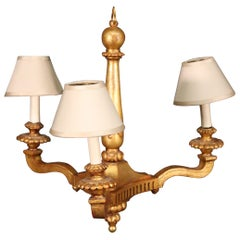 Gilded 3-Arm French Louis XV Style Chandelier