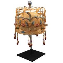 Gilded and Enamel Chinese Opera Theatre Headdress, Birdcage