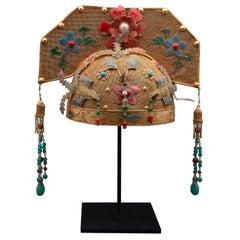 Gilded and Enamel Chinese Opera Theatre Headdress, Rose