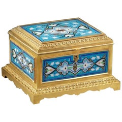 Gilded and Enamelled Bronze Box Signed Maison Boissier End of 19th Century