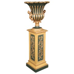 Gilded and Paint Decorated Venetian Style Floor Standing Plantstand Planter