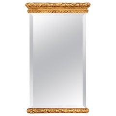 Gilded Beveled Italian Mirror