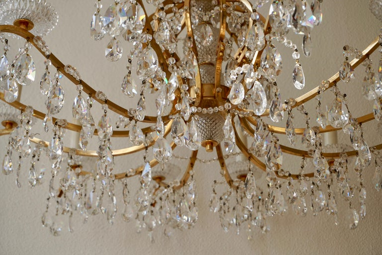 Gilded Brass Crystal Chandelier 5