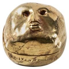 """Gilded Bronze Box """"L'homme d'affaires"""""""