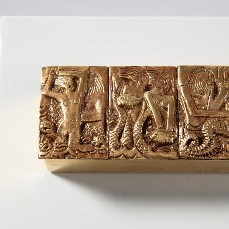 Mid-20th Century Gilded Bronze Box
