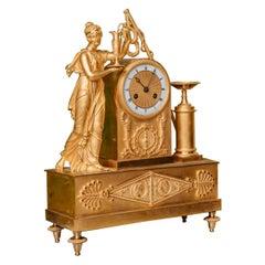 Gilded Bronze Clock