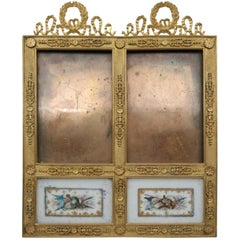 Gilded Bronze Frame and Painted Porcelain Plaque