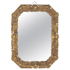 Gilded Bronze Mirror (Antique Gilding), Napoleon III Period, XIXth Century.