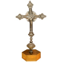 Gilded Bronze Processional Cross Top, 20th Century, after Earlier Models
