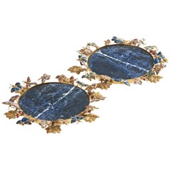 Gilded Butterflies Set of 2 Coasters