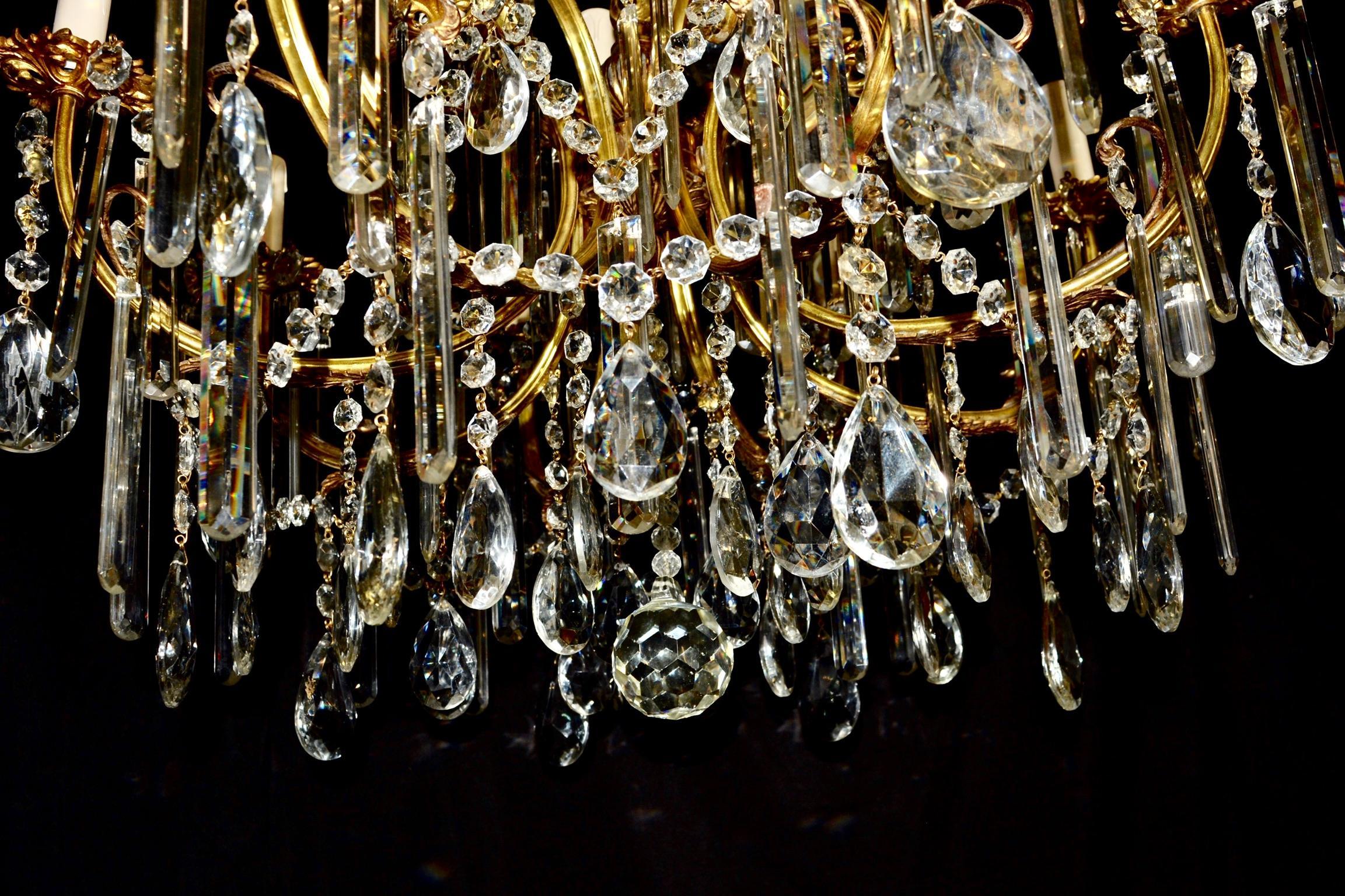 Kronleuchter Kristall Klein ~ Vergoldeter bohemia kronleuchter kristall antike deckenleuchte