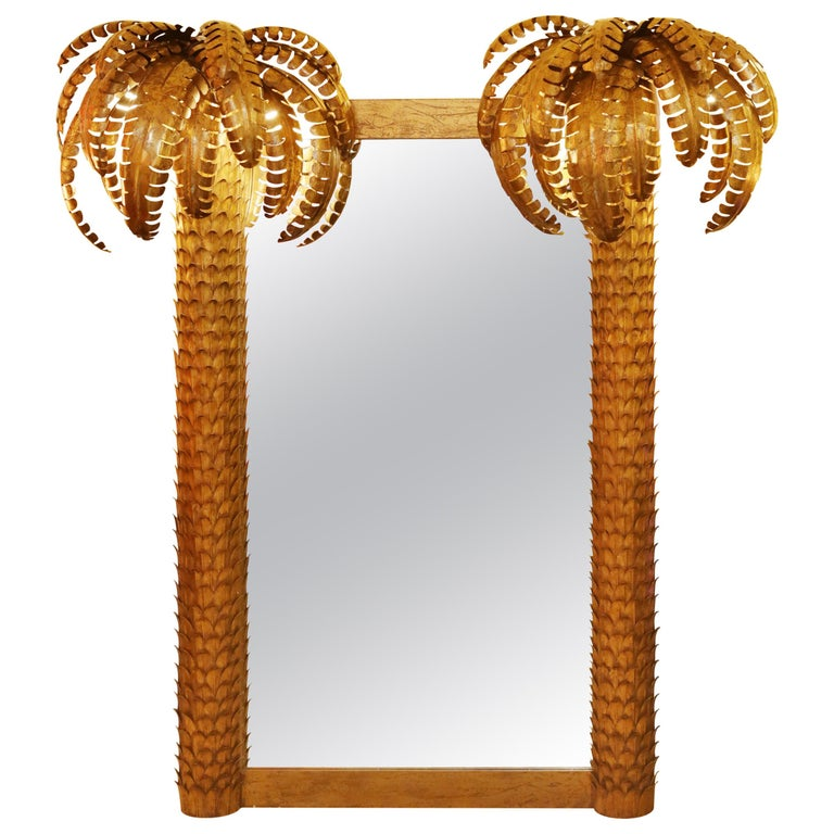 Gilded Double Palmer Mirror For Sale
