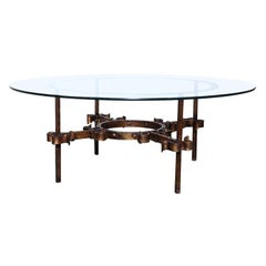 Gilded Glam Transitional Coffee Table