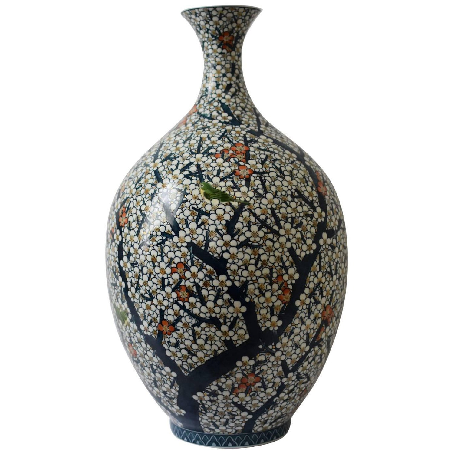 Gilded hand painted massive porcelain vase by japanese master gilded hand painted massive porcelain vase by japanese master artist for sale at 1stdibs reviewsmspy