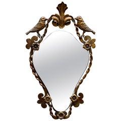 Gilded Iron Bird Motif Mirror, 1920s