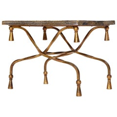 Gilded Italian Wrought Iron Table