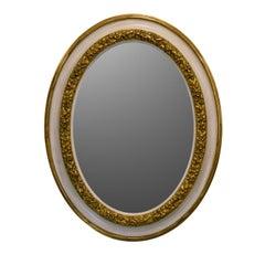 Gilded Ivory Mirror