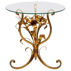 Gilded Lilly Side Table by Hans Kogl