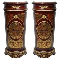 Gilded Louis XV Style Boulle Pedestal '2 Set', 20th Century