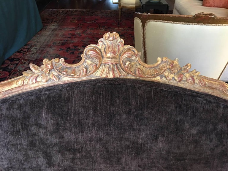French Gilded Louis XVI Style Settee, Late 19th-Early 20th Century For Sale