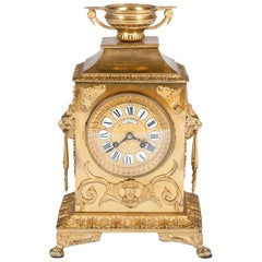 Gilded Mantle Clock by Levassort of Paris