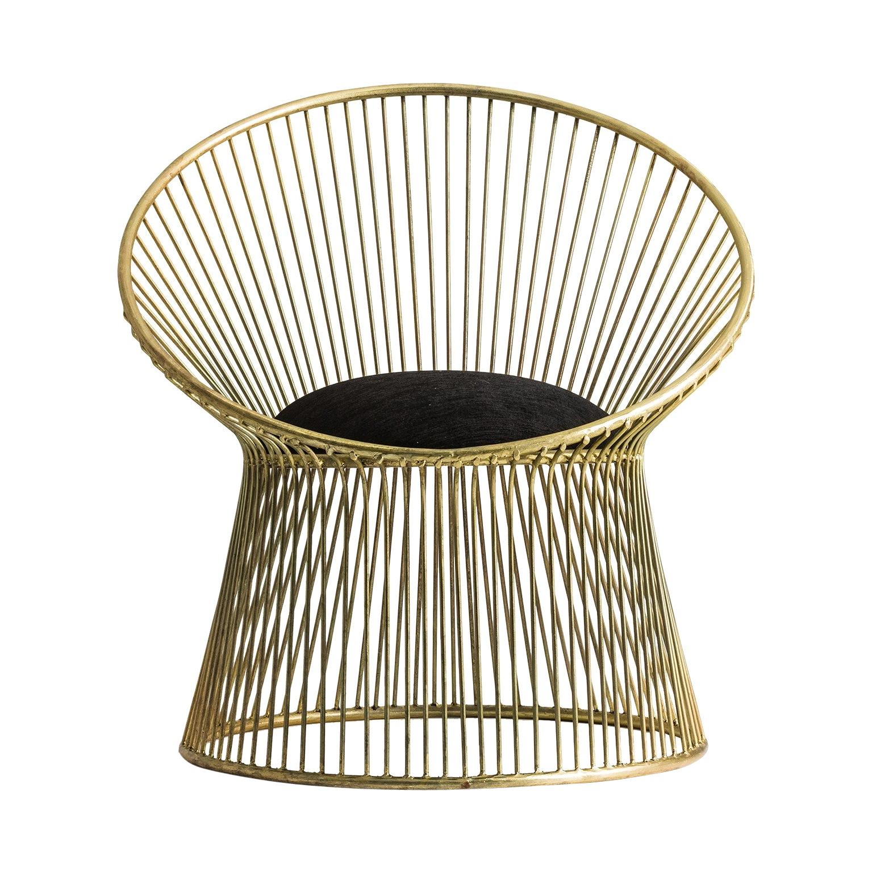 Gilded Metal Art Deco Style Armchair