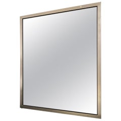 Gilded Mirror by Javier Robles, Silver Leaf over Black Lacquer