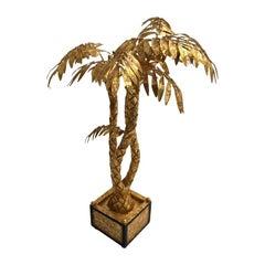 Gilded Palm Tree Center Piece