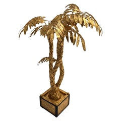Gilded Palm Tree Center Piece, delicate hand craft work elegant and decorative