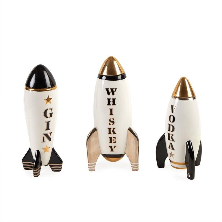 Gilded Rocket Decanter Set For Sale 1