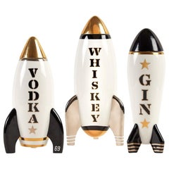 Gilded Rocket Decanter Set