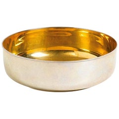 Gilded-Silver Bowl, Luigi Genazzi, 20th Century