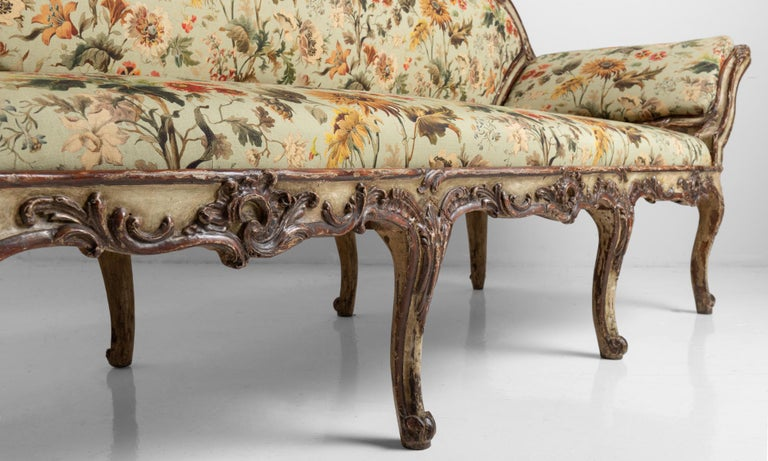 18th Century Gilded Sofa in House of Hackney Fabric