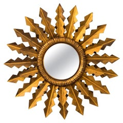 Antique Golden Arrows Sunburst Mirror