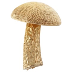 Gilded Three Dimensional Mushroom Brooch by Castlecliff, Signed, circa 1950s