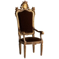 Gilded Throne Chair, Italy, 18th Century