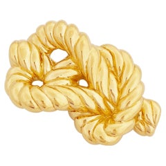 Gilded Twisted Knot Brooch By Nina Ricci, 1980s