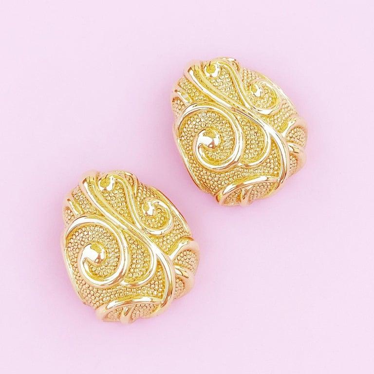 - Vintage item  - Each earring measures 1.5