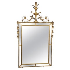 Gilded Vintage Federal Style Mirror with Elaborate Decoration