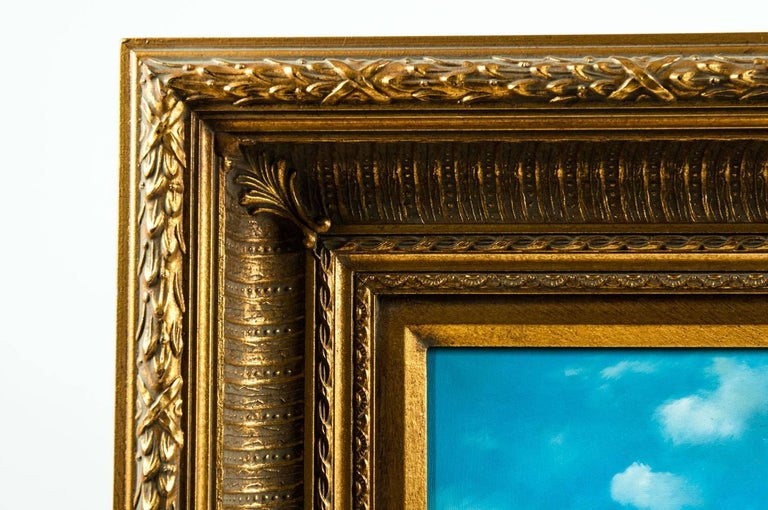 Gilded Wood Framed Oil on Canvas Painting For Sale 5