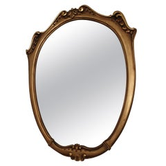 Gilded Wood Rococo Revival Style Mirror, 20th Century