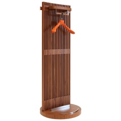 Gildo Walnut and leather Valet Stand contemporary design  by Giordano Viganò