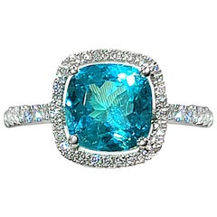 Gilin 18 Karat Gold 1.86 Carat Brazil Paraiba Diamond Ring