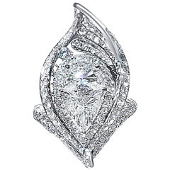 Gilin 18 Karat Gold White Diamond Ring
