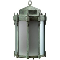The Jamb Gill Art Deco Style Hanging Lantern