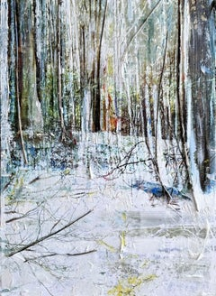 Gill Storr, In the Woods, Original Mixed Media Woodland Art