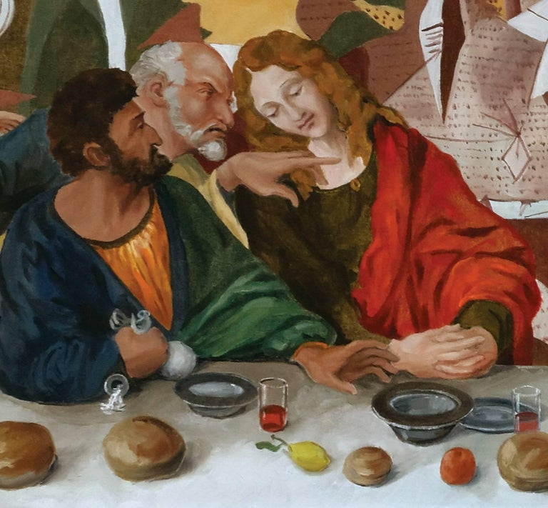 The Last supper  or A hundred titles, oil on canvas 3