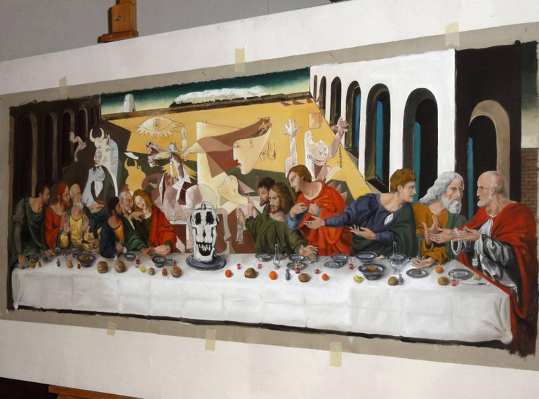 The Last supper  or A hundred titles, oil on canvas 9