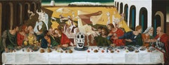 The Last supper  or A hundred titles, oil on canvas